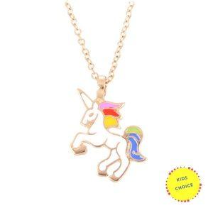 Girls unicorn necklace Gold